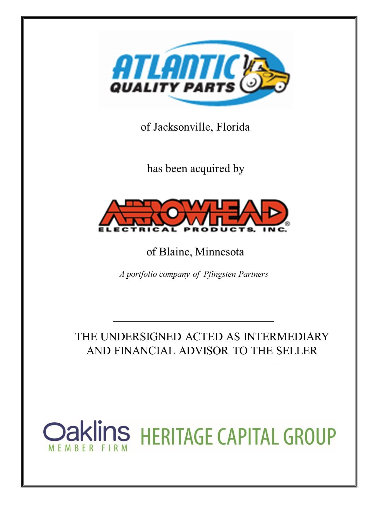 Sale of Atlantic International Distributors, Inc. | Heritage Capital ...